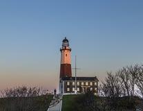 Luce del punto di Montauk, faro, Long Island, New York, Suffolk Immagini Stock Libere da Diritti