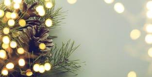 Luce dell'albero di Natale Fotografia Stock Libera da Diritti
