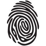 Luce dell'impronta digitale Fotografia Stock Libera da Diritti