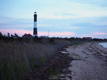 Luce dell'isola del fuoco Fotografia Stock