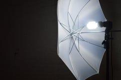 Luce dell'ombrello di fotografia Immagini Stock Libere da Diritti