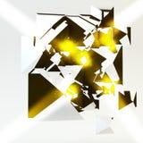Luce dell'oro della scintilla Fotografia Stock