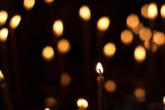 Luce della candela Fotografie Stock Libere da Diritti