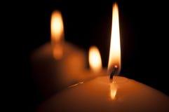 Luce della candela Immagini Stock
