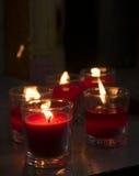 Luce della candela Fotografia Stock