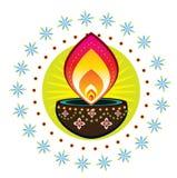 Luce della candela di Diwali Fotografie Stock