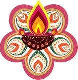 Luce della candela di Diwali Immagini Stock Libere da Diritti