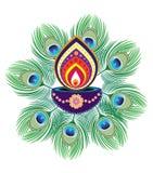 Luce della candela di Diwali Immagini Stock