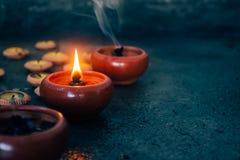 Luce della candela in natura immagine stock libera da diritti
