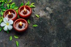 Luce della candela in natura immagine stock