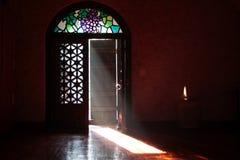 Luce della candela per i desideri Fotografia Stock Libera da Diritti