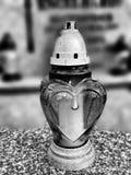 Luce della candela Sguardo artistico in bianco e nero Fotografia Stock