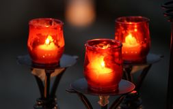 Luce della candela fotografie stock