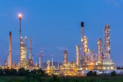 Luce della centrale elettrica di industria petrochimica Immagini Stock Libere da Diritti