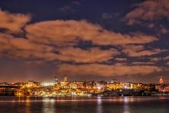 Luce della città Fotografie Stock