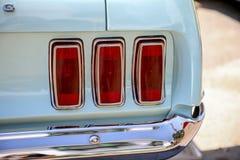 Luce della coda dal vecchio mustang fotografia stock libera da diritti