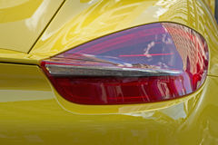 Luce della coda sull'automobile sportiva Immagine Stock