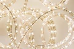 Luce della corda del LED Fotografie Stock
