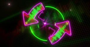 Luce della discoteca ed animazione senza fine delle frecce royalty illustrazione gratis
