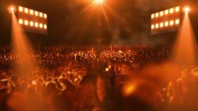 Luce della fase 3d di concerto stock footage