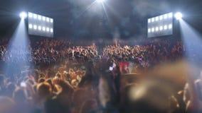 Luce della fase 3d di concerto video d archivio