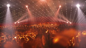 Luce della fase 3d di concerto della folla video d archivio