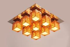 Luce della lampada del soffitto Fotografia Stock