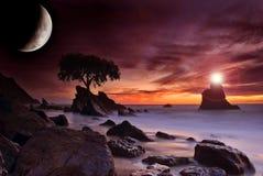 Luce della luna Immagini Stock Libere da Diritti