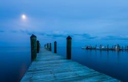 Luce della luna alle chiavi di Florida immagine stock