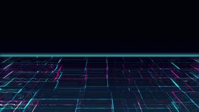 Luce della luna liquida cyber stock footage