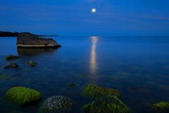 Luce della luna a Moelen Fotografie Stock Libere da Diritti