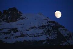 Luce della luna sopra Gran Paradiso Immagine Stock Libera da Diritti