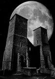 Luce della luna sopra il rotundra immagine stock libera da diritti