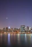 Luce della luna sopra Manhattan Immagine Stock Libera da Diritti