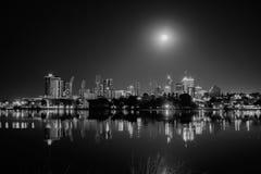 Luce della luna sopra Perth Fotografia Stock Libera da Diritti