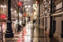 Luce della notte della città Immagini Stock