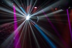 Luce della palla della discoteca Fotografie Stock