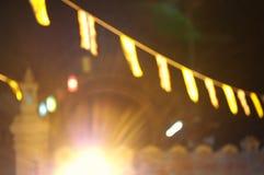 luce della sfuocatura Fotografia Stock