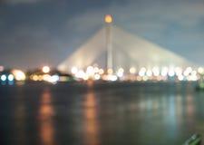 Luce della sfuocatura del ponte Fotografia Stock