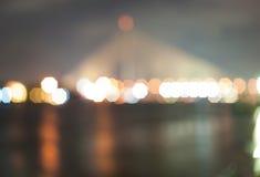 Luce della sfuocatura del ponte Fotografia Stock Libera da Diritti