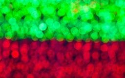 luce della sfuocatura di colore verde e rosso Immagini Stock Libere da Diritti