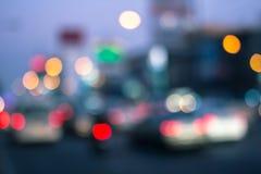 Luce della sfuocatura sul road#3 immagine stock