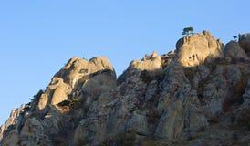 Luce delle rocce di mattina Immagini Stock