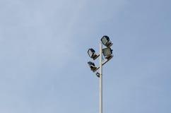Luce dello stadio Fotografia Stock Libera da Diritti