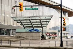 Luce di arresto del posto del Canada dentro in città fotografia stock libera da diritti