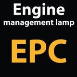 Luce di cruscotto d'avvertimento mpe Lampada della gestione del motore di codice di DTC Immagini Stock