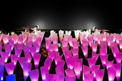 Luce di illuminazione e bordo di carta del segno Immagini Stock Libere da Diritti