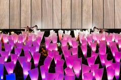 Luce di illuminazione e bordo di carta del segno Fotografia Stock Libera da Diritti