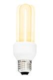 Luce di lampadina isolata Fotografie Stock Libere da Diritti