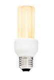 Luce di lampadina isolata Fotografia Stock